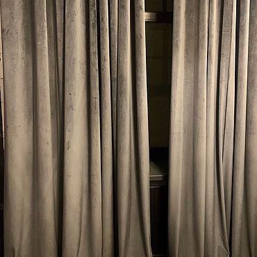 Текстиль ручной работы. Ярмарка Мастеров - ручная работа Шторы Графит. Handmade.