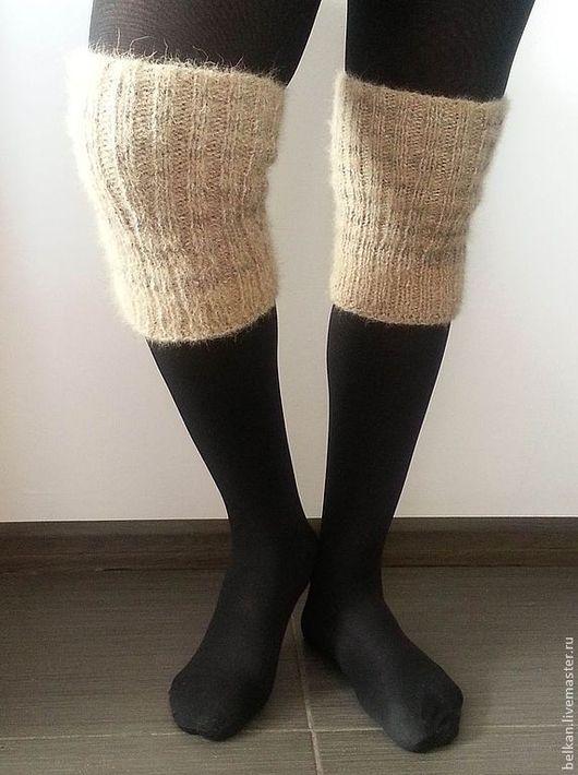 Носки, Чулки ручной работы. Ярмарка Мастеров - ручная работа. Купить Наколенники из собачьей шерсти. Handmade. Наколенник, из шерсти любимых