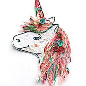Материалы для творчества handmade. Livemaster - original item Author stripe (applique) handmade spring unicorn. Handmade.
