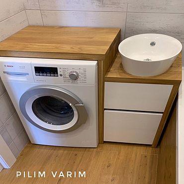 Для дома и интерьера ручной работы. Ярмарка Мастеров - ручная работа Тумба под раковину и стиральную машину. Handmade.