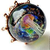 Украшения handmade. Livemaster - original item Ring lampworked. Handmade.