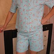 Одежда ручной работы. Ярмарка Мастеров - ручная работа Пижама женская теплая домашняя одежда. Handmade.