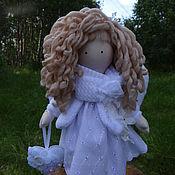 Куклы и игрушки ручной работы. Ярмарка Мастеров - ручная работа Текстильная кукла белый ангел хранитель фея кукла оберег кукла снежка. Handmade.