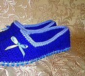 Slippers handmade. Livemaster - original item Slippers on felt soles. Handmade.