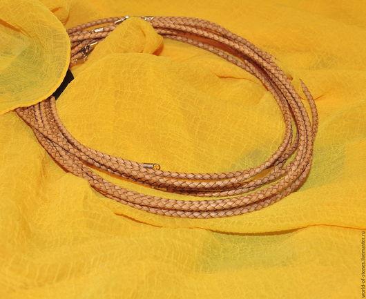 Колье, бусы ручной работы. Ярмарка Мастеров - ручная работа. Купить Шнурок кожаный с серебряным замком. Handmade. Разноцветный, кожа