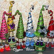 Подарки к праздникам ручной работы. Ярмарка Мастеров - ручная работа Новогодние елочки. Handmade.