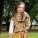 """Платья ручной работы. Ярмарка Мастеров - ручная работа. Купить Платье """" Золотая осень"""". Handmade. Оливковый, платье"""