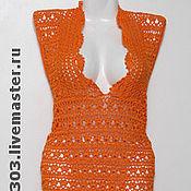 Одежда ручной работы. Ярмарка Мастеров - ручная работа Туника из хлопка Оранжевое настроение. Handmade.