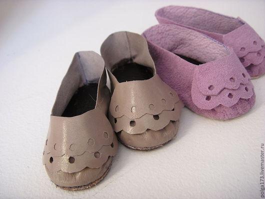 Одежда для кукол ручной работы. Ярмарка Мастеров - ручная работа. Купить Туфельки с кружевом ручной работы. Handmade. замша натуральная