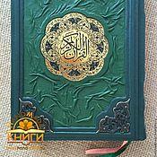 Сувениры и подарки handmade. Livemaster - original item Koran translated by Iman Valeria Gunpowder leather binding. Handmade.
