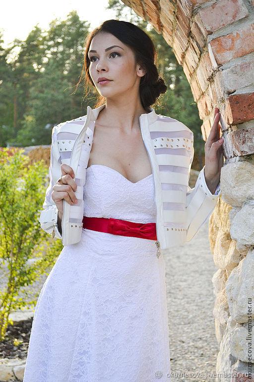 Leather Jacket Bridal Wedding Jacket, Outerwear Jackets, Vladimir,  Фото №1