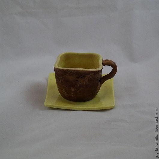 """Сервизы, чайные пары ручной работы. Ярмарка Мастеров - ручная работа. Купить Чашка """"Солнечная"""". Handmade. Керамика, неповторимый подарок"""