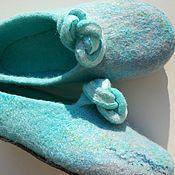 """Обувь ручной работы. Ярмарка Мастеров - ручная работа тапочки """"Нежность прибоя.."""". Handmade."""