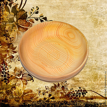 Посуда ручной работы. Ярмарка Мастеров - ручная работа Кедровая тарелочка 16см блюдце из сибирского кедра - ручная работа #T9. Handmade.