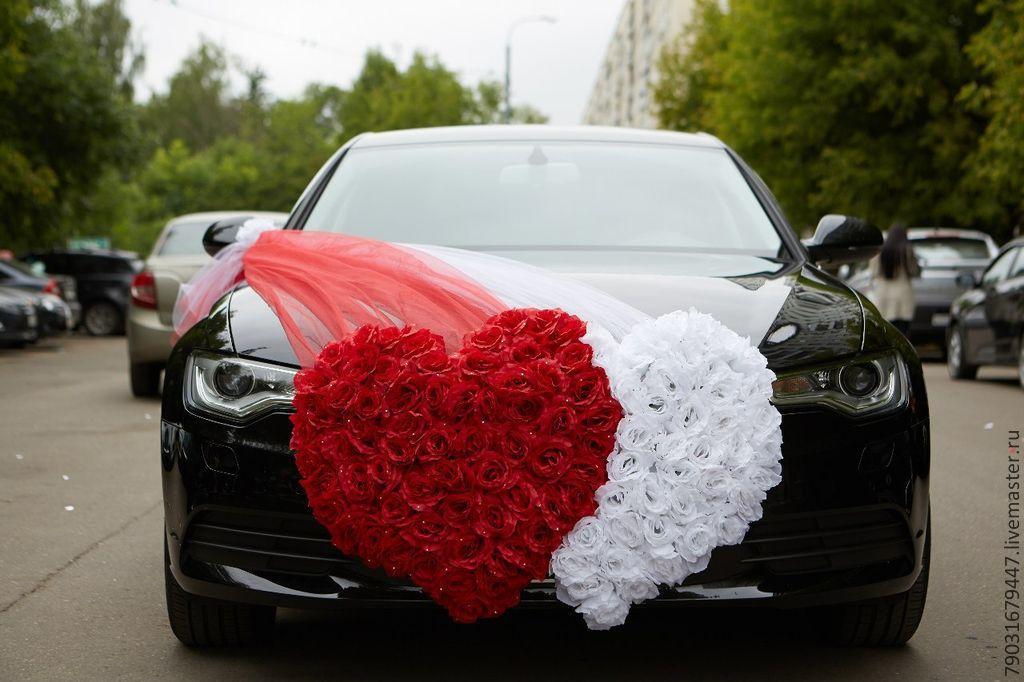 Украшения на свадебную машину сердца