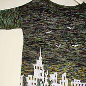 """Одежда ручной работы. Ярмарка Мастеров - ручная работа Джемпер  """"Город дождей"""". Handmade."""