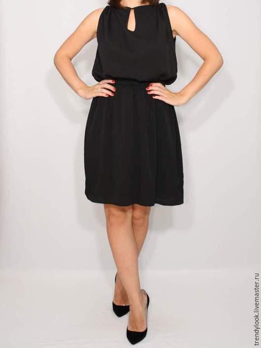 Платья ручной работы. Ярмарка Мастеров - ручная работа. Купить Черное платье из шифона,короткое летнее платье. Handmade. handmade