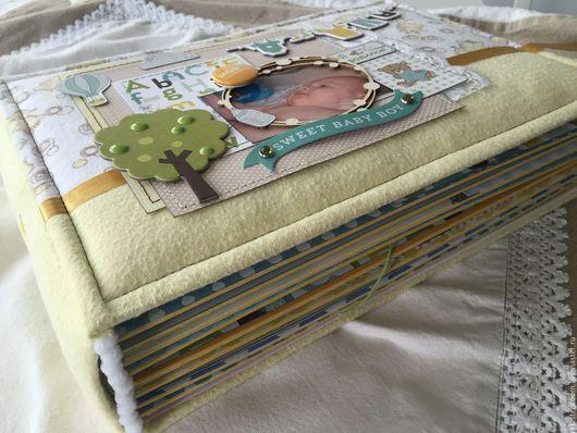 Подарки для новорожденных, ручной работы. Ярмарка Мастеров - ручная работа. Купить Альбом для мальчика. Handmade. Комбинированный, девочка, переплётный картон