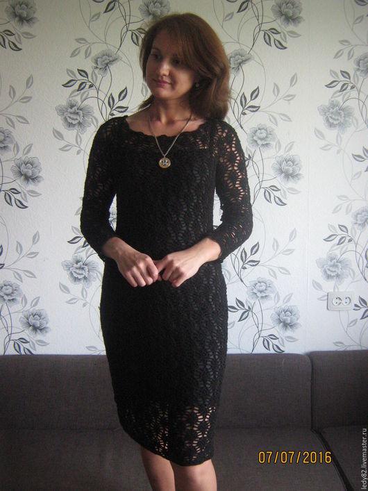 """Платья ручной работы. Ярмарка Мастеров - ручная работа. Купить Платье """"Ночь"""". Handmade. Черный, платье крючком, платье из хлопка"""