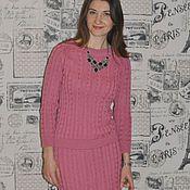 """Одежда ручной работы. Ярмарка Мастеров - ручная работа Вязаный костюм """"Розовый шик"""". Handmade."""