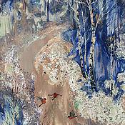 Картины и панно ручной работы. Ярмарка Мастеров - ручная работа Картина Снегири. Handmade.