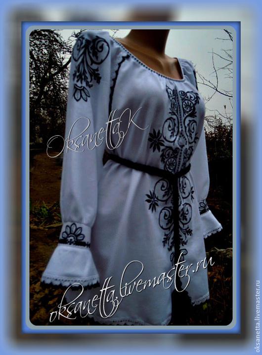 """Блузки ручной работы. Ярмарка Мастеров - ручная работа. Купить Туника """"Гармония"""". Handmade. Белый, туника, блуза, туника с вышивкой"""