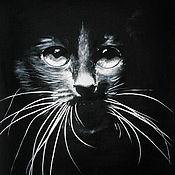 Картины и панно ручной работы. Ярмарка Мастеров - ручная работа В полумраке (30x40 см). Handmade.