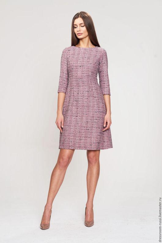Платья ручной работы. Ярмарка Мастеров - ручная работа. Купить Розовое платье с завышенной талией. Handmade. Бледно-розовый