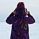 Верхняя одежда ручной работы. Пальто валяное Мичие. Марина Власенко. Ярмарка Мастеров. Войлочное пальто, Декоративные волокна