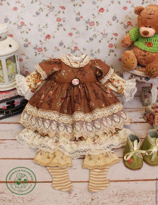 Одежда для кукол ручной работы. Ярмарка Мастеров - ручная работа. Купить Одежда для кукол. Комплект одежды бохо, шебби шик. Handmade.
