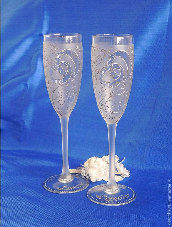 Свадебные фужеры петербург