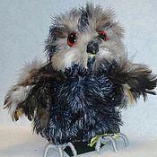 Куклы и игрушки ручной работы. Ярмарка Мастеров - ручная работа совенок Филимоша вязаная игрушка. Handmade.