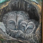 Картины и панно ручной работы. Ярмарка Мастеров - ручная работа Совы спят. Handmade.