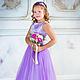 Одежда для девочек, ручной работы. Ярмарка Мастеров - ручная работа. Купить Платье для девочки, стильное, пышное, длинное. Handmade.