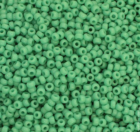 Для украшений ручной работы. Ярмарка Мастеров - ручная работа. Купить Круглый 11/0 Miyuki  412 Op Turquoise Green японский бисер Миюки. Handmade.