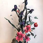 Цветы и флористика handmade. Livemaster - original item Bouquet Moon silk flowers ,cloth flowers. Handmade.