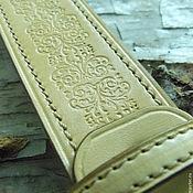 Аксессуары ручной работы. Ярмарка Мастеров - ручная работа Ремень из натуральной кожи. Handmade.