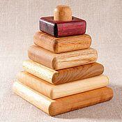 Куклы и игрушки handmade. Livemaster - original item Pyramid square 5 wood. Handmade.