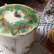 """Для дома и интерьера ручной работы. Ярмарка Мастеров - ручная работа короб """"  Пенечек"""". Handmade."""
