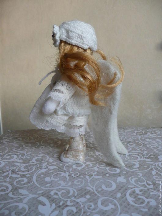 Куклы Тильды ручной работы. Ярмарка Мастеров - ручная работа. Купить Белый АНГЕЛ- ХРАНИТЕЛЬ. Авторская валяная игрушка из войлока. Handmade.