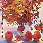 """Картины и панно ручной работы. Ярмарка Мастеров - ручная работа картина маслом """"Краски осени"""". Handmade."""