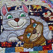 """Картины и панно ручной работы. Ярмарка Мастеров - ручная работа панно """" Кошки очарование мое....кошки..."""". Handmade."""
