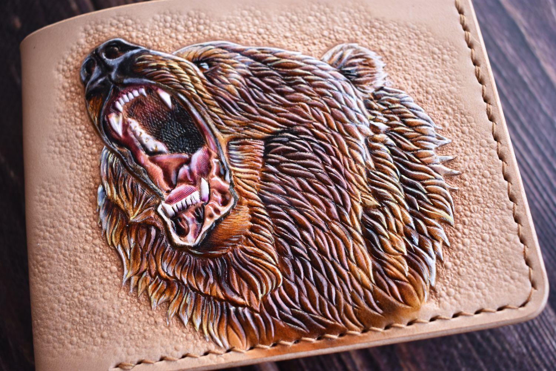 Bear-embossed wallet, Wallets, Orenburg,  Фото №1