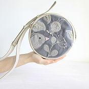Crossbody bag handmade. Livemaster - original item Bag leather purse, floral embroidery, cross body purse.. Handmade.