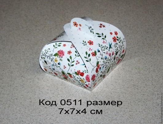 Коробочка подарочная (бонбоньерка) код 0511 размер 7х7х4 см
