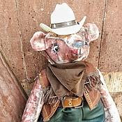"""Куклы и игрушки ручной работы. Ярмарка Мастеров - ручная работа мишка тедди """" Ковбой Билл"""". Handmade."""