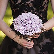 """Роскошный свадебный букет невесты из живых цветов """"Розамелия"""""""
