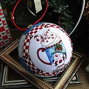 Сувениры и подарки handmade. Livemaster - original item Christmas ball Christmas Snowman (collectible). Handmade.