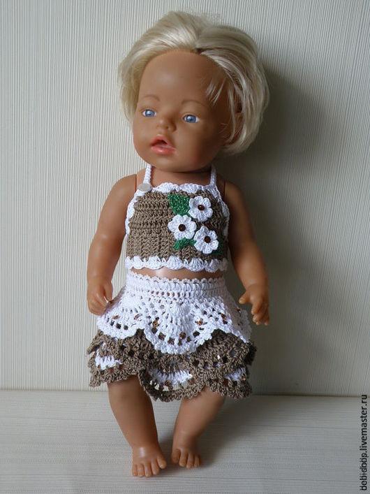 Одежда для кукол ручной работы. Ярмарка Мастеров - ручная работа. Купить Одежда для куклы. Топ и юбочка. Handmade. Baby born
