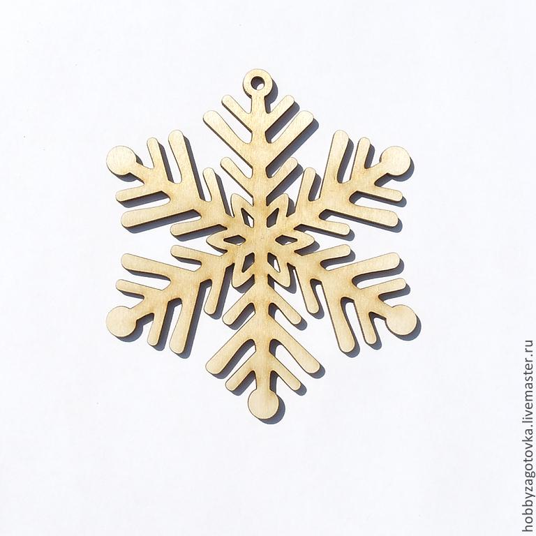 """Декоративный элемент """"Снежинка"""" F-0254, Заготовки, Ступино, Фото №1"""
